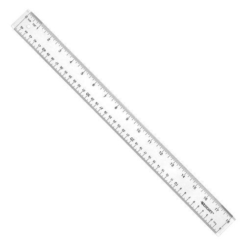 WESTCOTT 10564 Ruler,18 Inch,Clear Acrylic