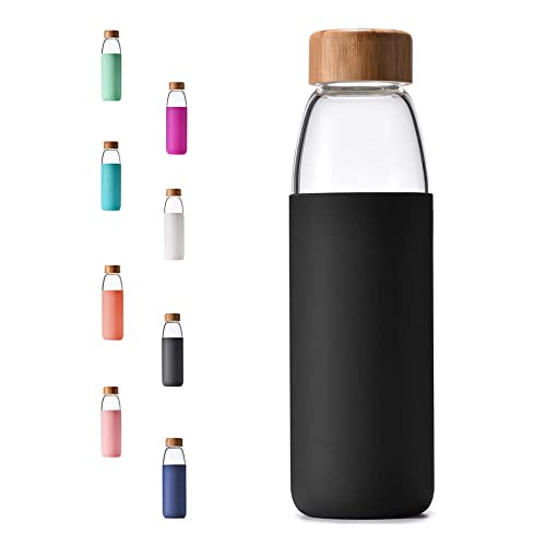 4fb9c6cd8d6a Buy Veegoal Dishwasher Safe 18 Oz Borosilicate Glass Water Bottle ...