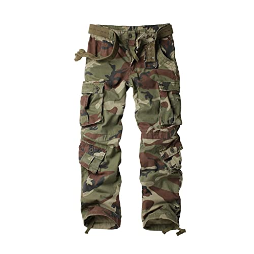 AKARMY Mens Cotton Casual Military Army Cargo Camo Combat Work Pants