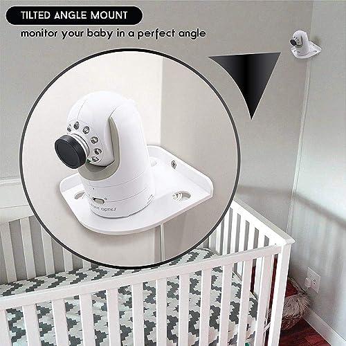 Corner Camera Shelf for Infant Optics DXR-8 DXR-5 Arlo Baby Babysense 7 Hello Baby Motorola Infant Optics DXR-8 Baby Monitor Mount Universal Wall Mounts Cam Holder for Infants Video Monitoring