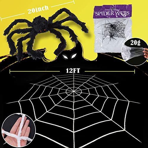 Halloween Stretch Spider Web 230g//8.11 oz 800 Sq.ft Party Decorations with 60 Fake Spiders for Costume Props Indoor Outdoor Haunted House