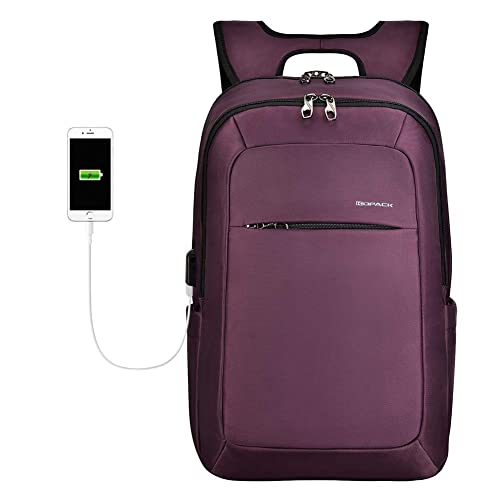 464836614 KOPACK Slim Women Laptop Backpack 15.6 in with USB Charging Port Anti Theft  Laptop Bag College