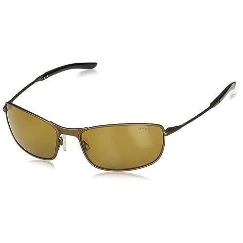 61 mm Bronze Revo Re 3087 Windspeed Polarized Sport Sunglasses Aviator