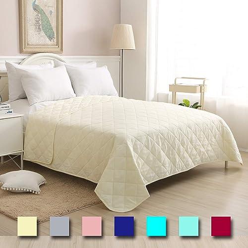 Lightweight Bed Quilt Classical Pattern Comforter Bedspread Coverlet Blanket