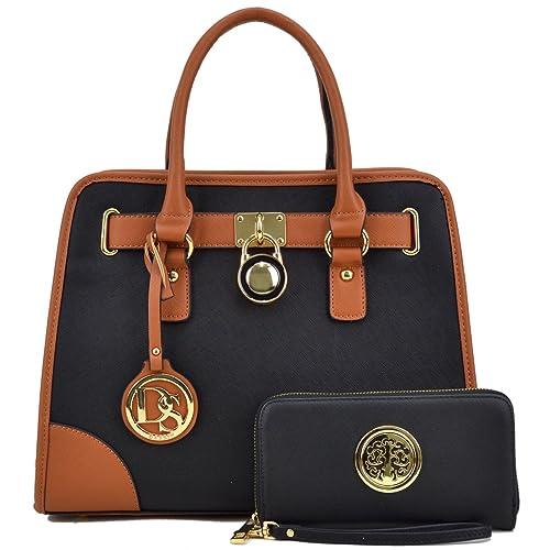 44ecda1e0712 Buy DASEIN Women Handbags Top Handle Satchel Purse Shoulder Bag ...