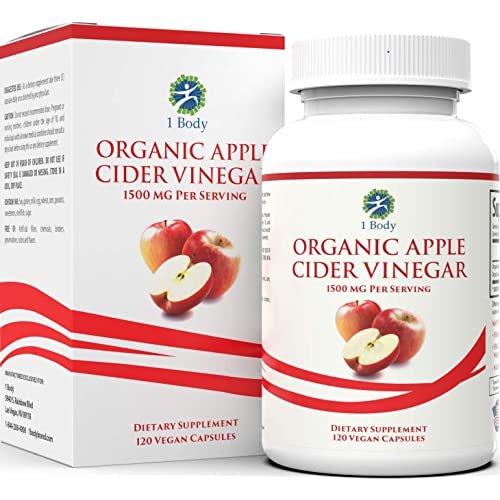 Organic Apple Cider Vinegar Pills – Bloating Relief and Weight Loss –  Hunger Suppressant for Women and Men – May Assist with Detox Cleanse,