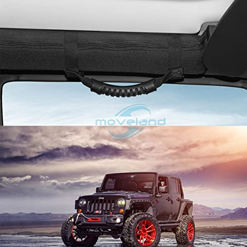 Black Roll Bar Grab Handles for Jeep Wrangler Accessories YJ TJ JK JL Sports Sahara Freedom Rubicon X /& Unlimited 1987-2019 moveland 4 x Grip Handle Jeep Wrangler Handles