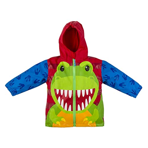 YNIQ Boys Lightweight Dinosaur Print Raincoats