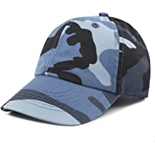 d0b2ca6cd6f25 THE HAT DEPOT Kids Washed Low Profile Cotton and Denim Plain Baseball Cap  Hat